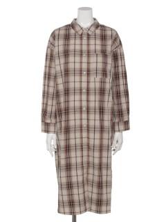 【chocol raffine robe】前あきシャツワンピース