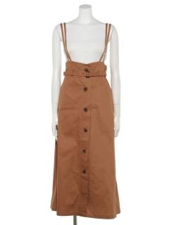 【chocol raffine robe】ベルト付ジャンパースカート