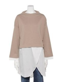 【chocol raffine robe】アシメシャツドッキングチュニック