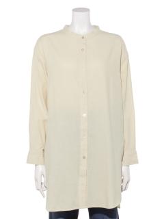 【chocol raffine robe】バンドカラーシャツチュニック