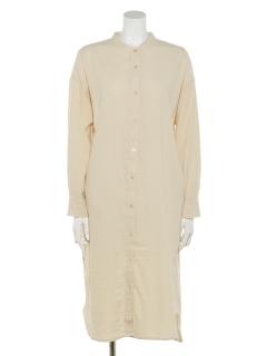【chocol raffine robe】バンドカラーシャツワンピース