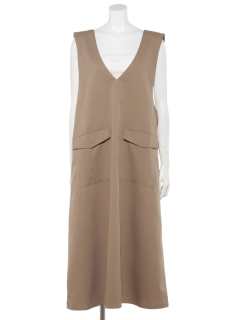 【chocol raffine robe】Vネックジャンパースカート