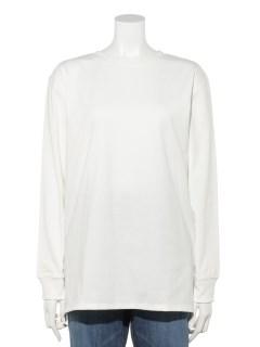 【chocol raffine robe】ホワイトインナークルーネックスリット