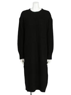 【chocol raffine robe】センタータックニットワンピース