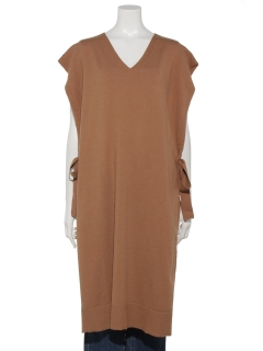 【chocol raffine robe】サイドリボンニットベスト