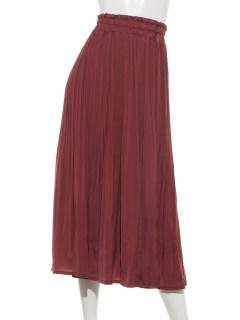 【RAY CASSIN FAVORI】サテンケシプリーツスカート