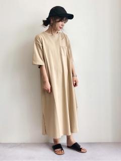 【SUGAR SPOON】AラインTシャツワンピ