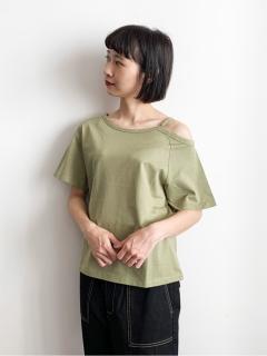 【E hyphen world gallery】アシンメトリーTシャツ