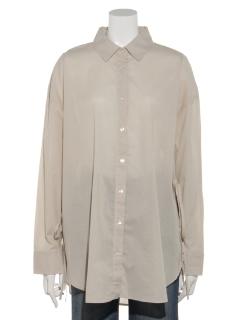 【chocol raffine robe】サイドリボンビッグシャツ