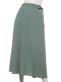 【chocol raffine robe】巻き風リボンスカート