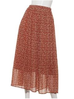 【chocol raffine robe】ボタニカルプリーツスカート