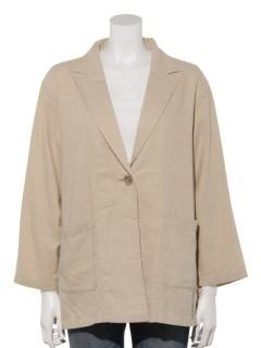 【chocol raffine robe】リネンテーラードジャケット