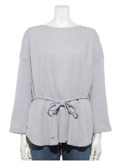 【chocol raffine robe】リボン付テレコカットプルオーバー