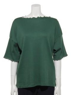 【chocol raffine robe】メロウ5分袖カットプルオーバー