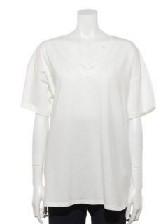 【chocol raffine robe】太Vネックスキッパープルオーバー