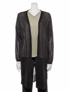 【chocol raffine robe】SET2点 ストライプトップス+ニットカーデ