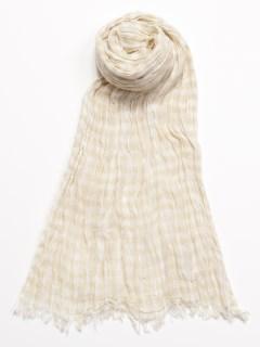 【chocol raffine robe】UV加工 コットンギンガムチェックストール
