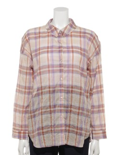 【chocol raffine robe】マドラスチェックシャツ