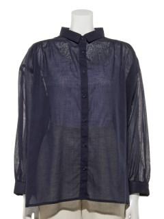【chocol raffine robe】レギュラーカラーギャザーシャツ