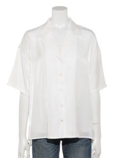 【chocol raffine robe】レーヨン混オープンカラーシャツ