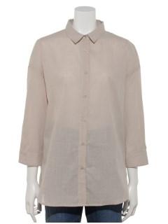 【chocol raffine robe】コットンスラブレギュラーシャツ