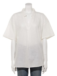 【chocol raffine robe】コットンスラブスキッパーシャツ