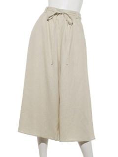 【chocol raffine robe】麻混ガウチョパンツ