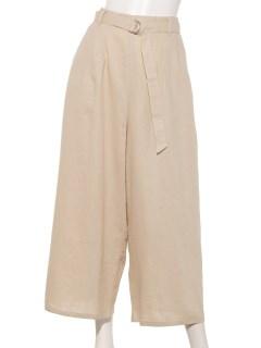 【chocol raffine robe】麻混フレアパンツ