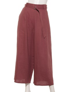 【chocol raffine robe】麻混フレアパンツ-2