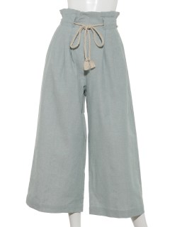 【chocol raffine robe】麻混タックワイドパンツ