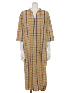 【chocol raffine robe】マドラスチェックシャツワンピース