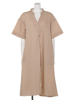 【chocol raffine robe】ノーカラースキッパーワンピース