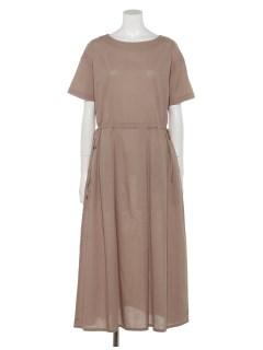 【chocol raffine robe】クルーネックロングワンピース