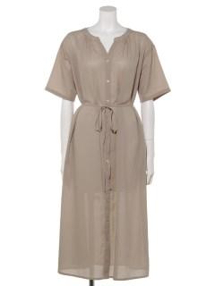【chocol raffine robe】フレアスリーブスキッパーワンピース