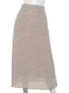 【chocol raffine robe】小花柄フレアスカート