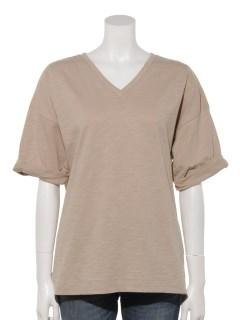 【chocol raffine robe】VネックスラブTシャツ