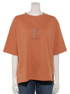 【chocol raffine robe】フラワーモチーフTシャツ