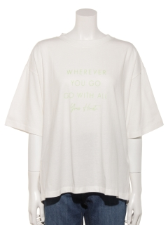 【chocol raffine robe】4段ロゴTシャツ