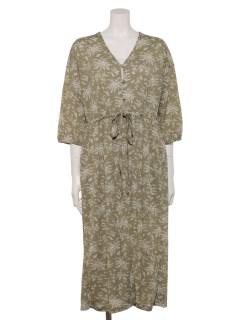 【chocol raffine robe】花柄単色カットワンピース