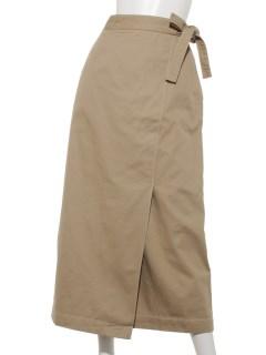 【ELENCARE DUE】 ツイルラップスカート