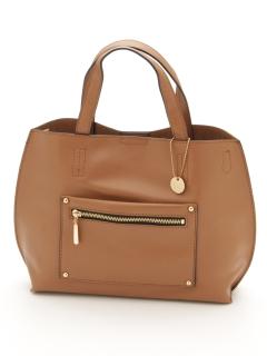 【T.S.L】ポケット付き2wayトートバッグ