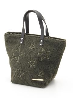 【COLDE】ボア星刺繍トートバッグ