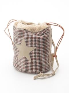 【COLDE】星パッチ巾着ショルダーバッグ