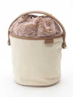 【COLDE】エコファー巾着付きバケツバッグ