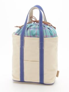 【COLDE】カラーハンドル巾着付きトートバッグ