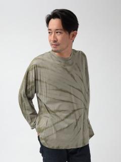 植物染めタイダイ長袖Tシャツ