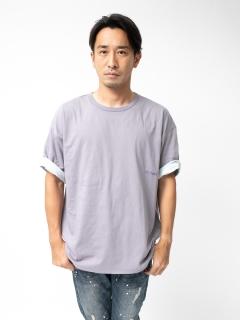 植物染めリバーシブル半袖Tシャツ