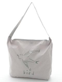 birdプリントショルダーバッグ