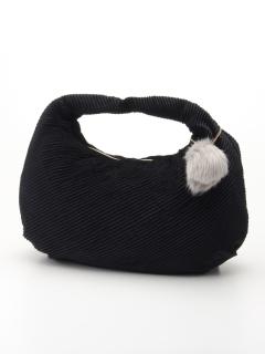 ベロアプリーツバッグ