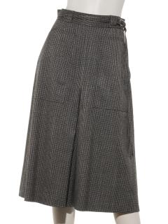 H フロントタックキュロットスカート